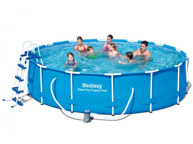 Bazén s konstrukcí 427 x 100 cm se schůdky a filtrací