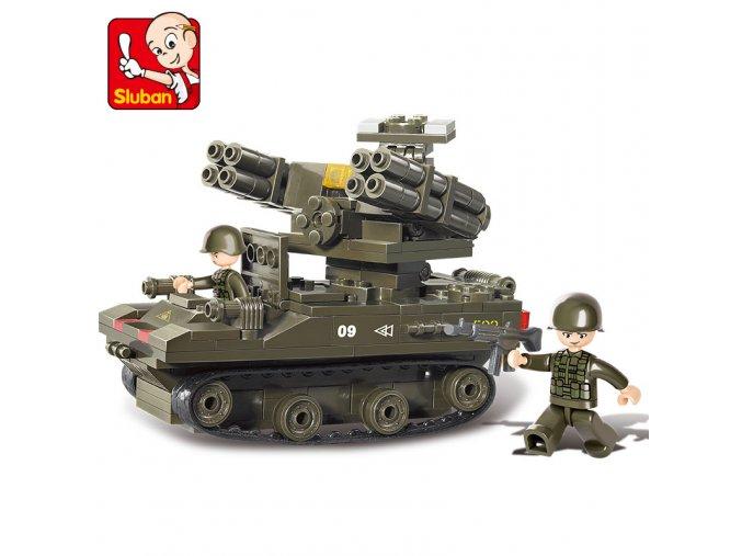 Vojenské obrněné vozidlo s raketometem M38-B0283