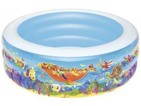 Nafukovací bazén s potiskem moře 152 x 51 cm