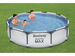 Bazén s konstrukcí 305 x 76 cm s karušovou filtrací