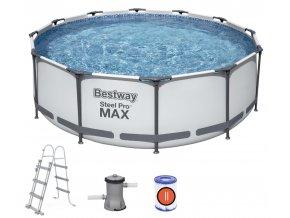 Bazén s konstrukcí 366 x 100 cm se schůdky a filtrací