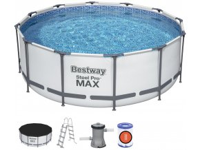Bazén s konstrukcí 366 x 122 cm se schůdky, filtrací a příslušenstvím