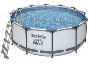 Bazén s konstrukcí 366 x 122 cm se schůdky