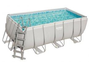 Bazén s konstrukcí 412 x 201 x 122 cm se schůdky