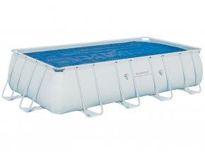 Solární plachta na obdélníkový bazén s konstrukcí 549 cm x 274 cm