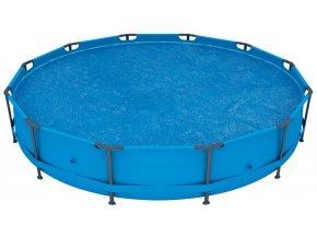 Solární plachta na bazén s konstrukcí 366 cm