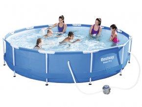 Bazén s konstrukcí 366 x 76 cm s kartušovou filtrací