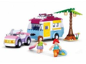 Auto a obytný přívěs M38-B0606
