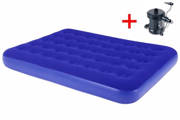 Bestway Nafukovací postel modrá - Double s elektrickou pumpou 230 V