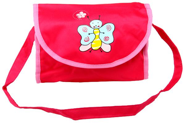 Boncare Taška na kočárek pro panenky růžovo - růžová s motýlkem