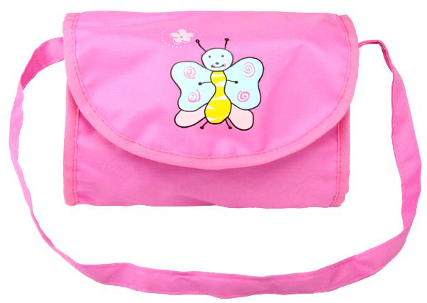 Boncare Taška na kočárek pro panenky růžovo - fialová s motýlkem