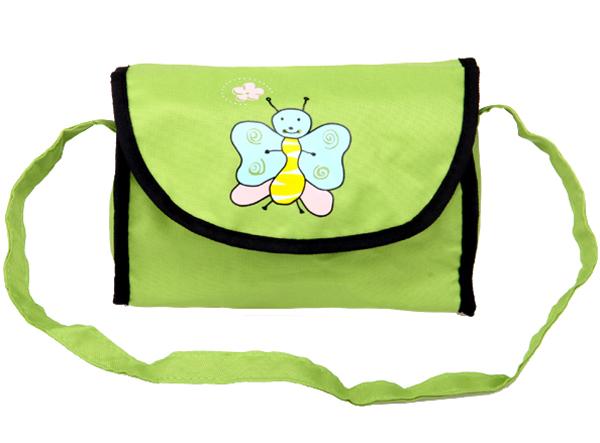 Boncare Taška na kočárek pro panenky zelená s motýlkem