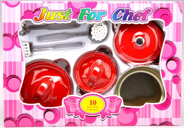Kovové nádobí pro panenky - hrnce
