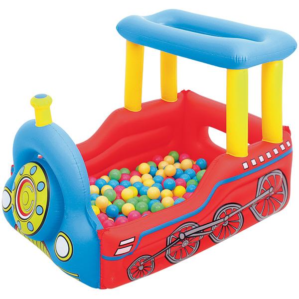 Hrací centrum - lokomotiva s míčky
