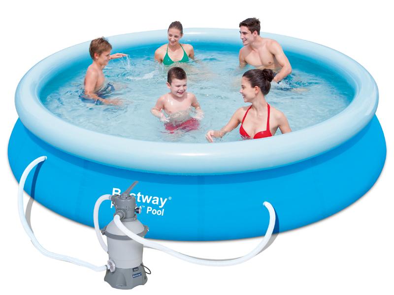 Bestway Bazén Fast Set 3,66 x 0,76 m s pískovou filtrací 57275