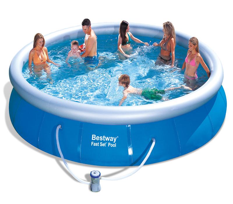 Bestway Bazén Fast Set 4,57 x 1,07 m s karušovou filtrací 57294