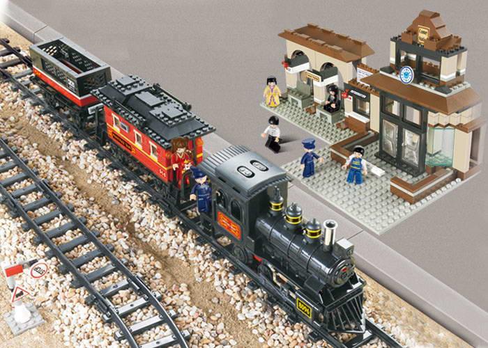 Vlak s nádražím M38-B0236