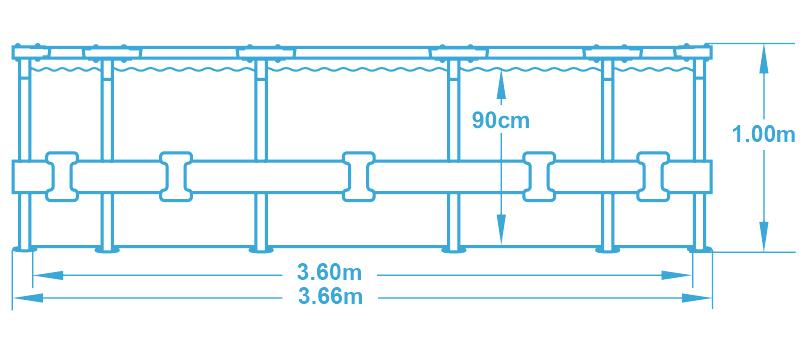 Bestway Steel Pro Frame 3,66 x 1 m 16418