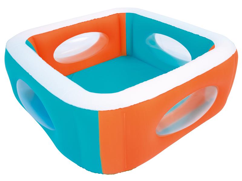 Bestway Nafukovací bazén s průzory 168 x 168 x 56 cm 51132