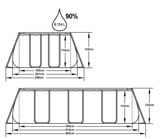 Bestway Bazén Power Steel 4,12 x 2,01 x 1,22 m se schůdky 56457