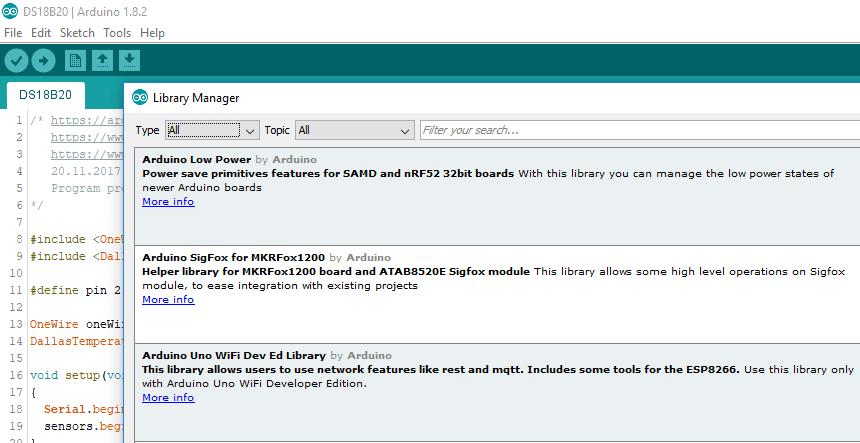Jak správně naimportovat Arduino knihovnu?