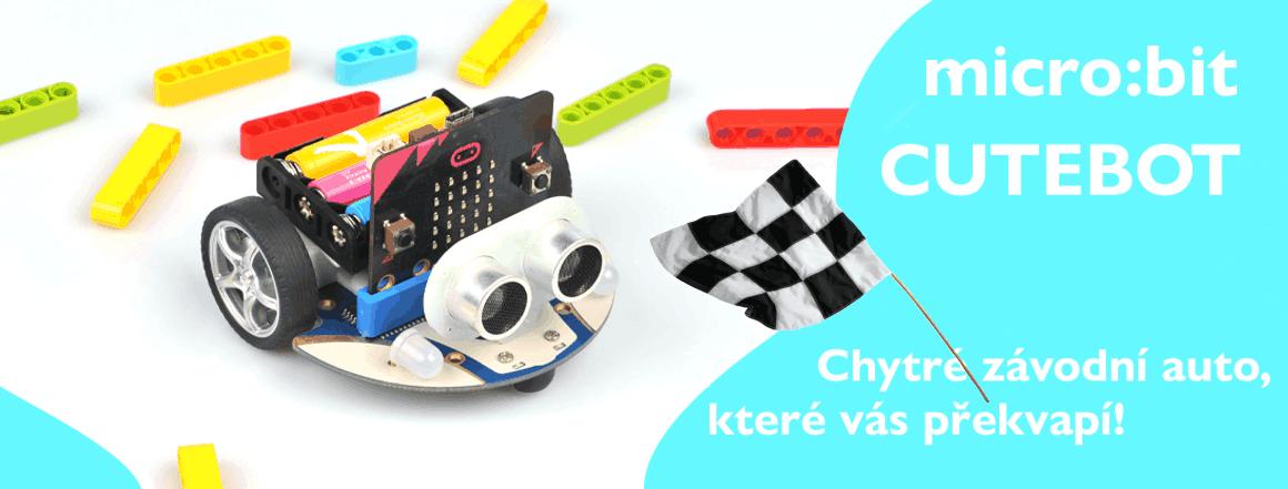 microbit Cutebot chytré závodní auto