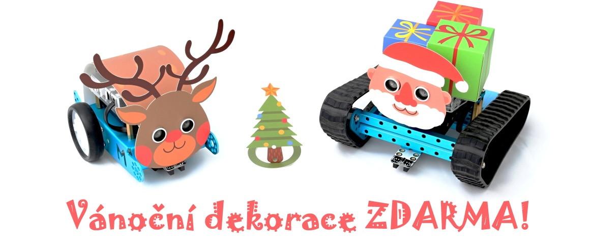 ZDARMA! Vánoční dekorace na robota mBot a mBot Ranger!