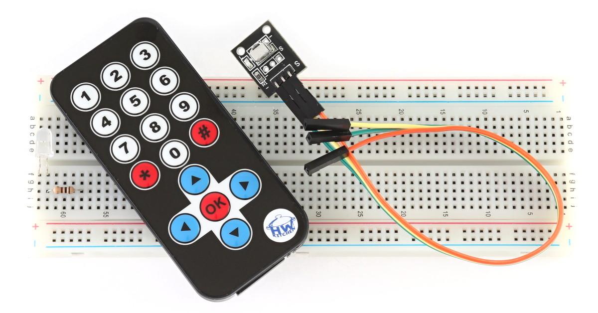 Bezdrátové ovládání pomocí IR ovladače