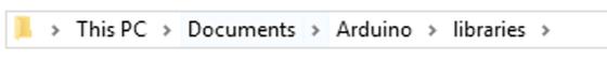 Importování knihovny pomocí windows průzkumníku