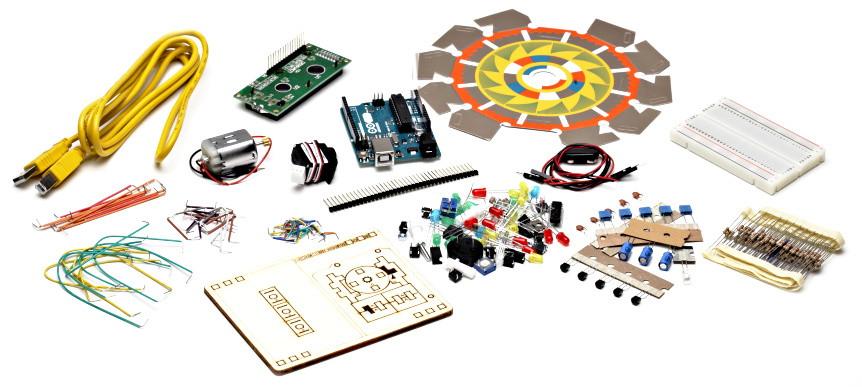 Arduino Starter Kit součásti