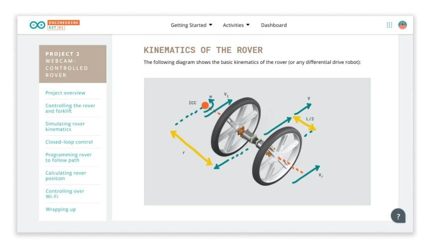 Arduino Engineering Kit Rev2 pro podporu výuky robotiky - výukové materiály