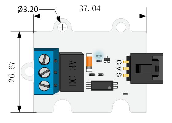 3V Relé modul pro micro:bit rozměry
