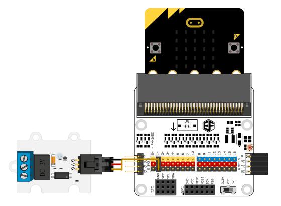 3V Relé modul pro micro:bit zapojení