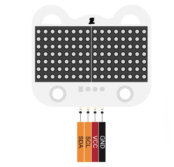 8x16 LED Matrix modul - červená signály