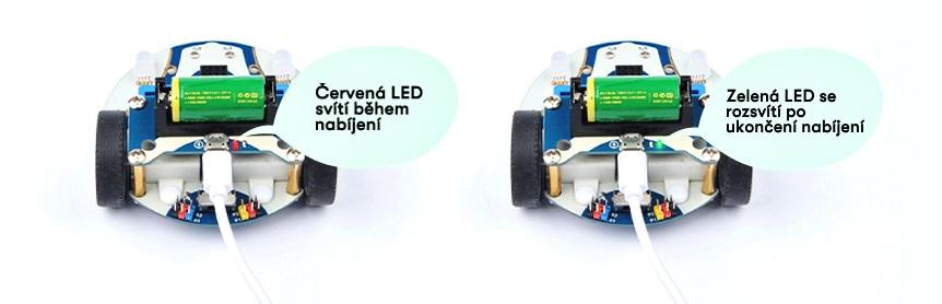 Battery Pack pro auto Cutebot V3.0 indikace nabíjení