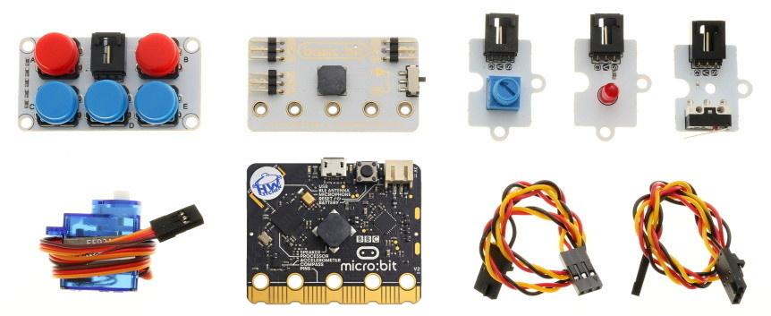 BBC micro:bit v2 Basic Kit součásti