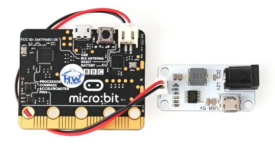 BBC micro:bit napájecí modul 3,3V/2A propojení s Micro:bit