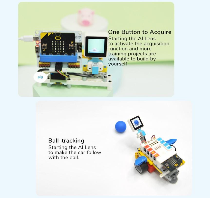 Chytrá kamera pro A.I. umělou inteligenci balonek