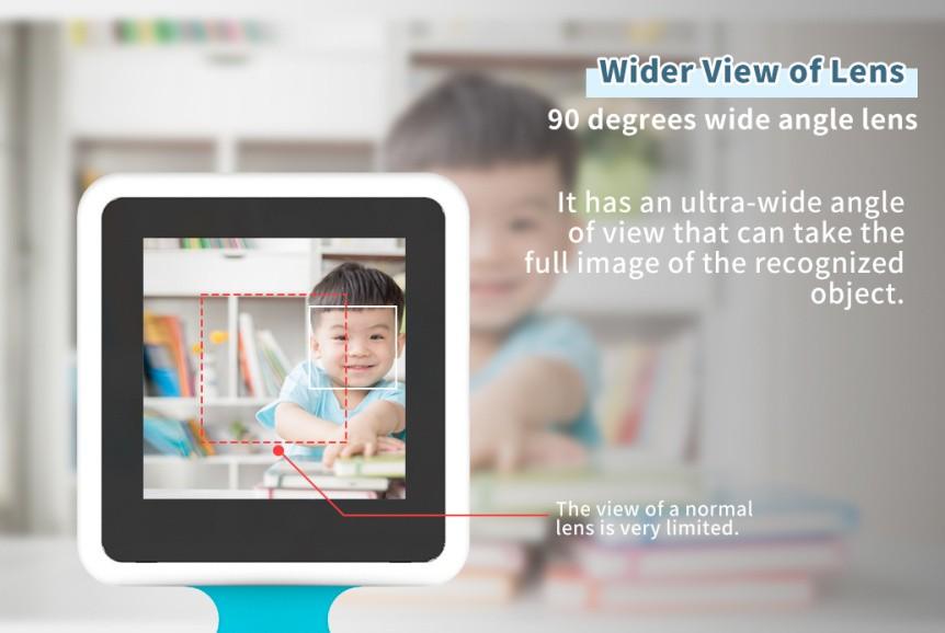 Chytrá kamera pro A.I. umělou inteligenci - úhel záběru