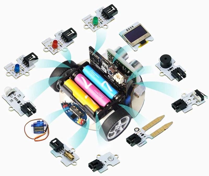 Cutebot - Micro:bit chytré závodní auto rozšiřující moduly Octopus