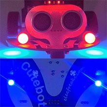Cutebot - Micro:bit chytré závodní auto RGB světlomety