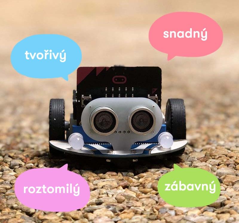 Cutebot - Micro:bit chytré závodní auto vlastnosti