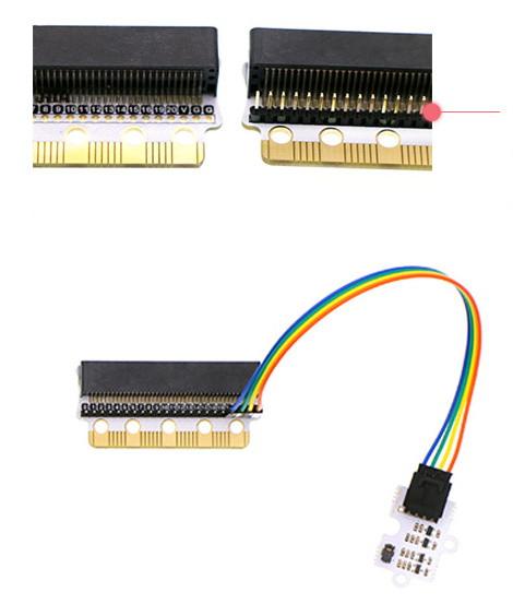 Edge:bit pro micro:bit - ochranný modul - pin lišta