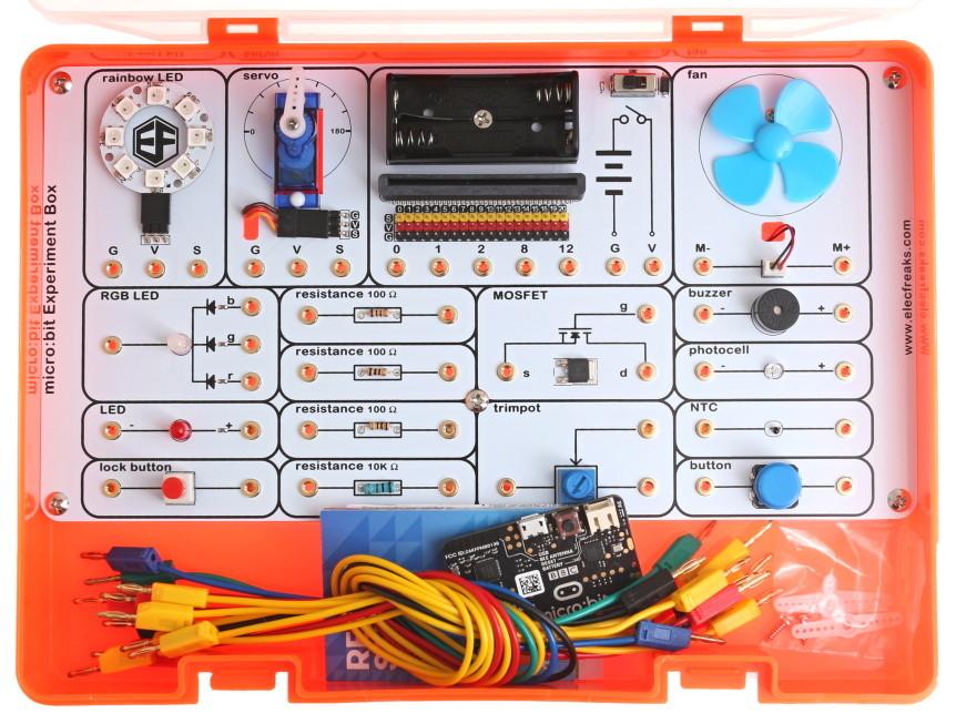 Experiment kit pro micro:bit komponenty