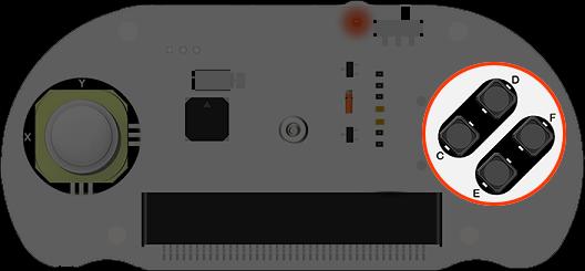 Joystick:bit V2 Plus s úchyty - tlačítka