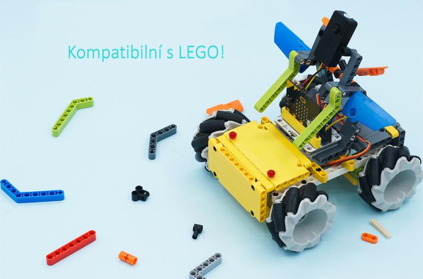 Mecanum všesměrové kolo 64mm - sada 4ks kompatibilní s LEGO