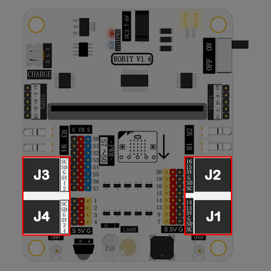 Micro:bit Robit - řídící deska pro chytrého robota (funguje s mBot) - RJ25
