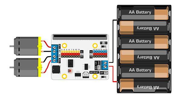 Motor:bit pro micro:bit - rozšiřující modul pro motory - použití