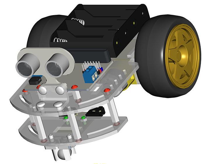 Motor:bit kit chytrý robot s Micro:bit