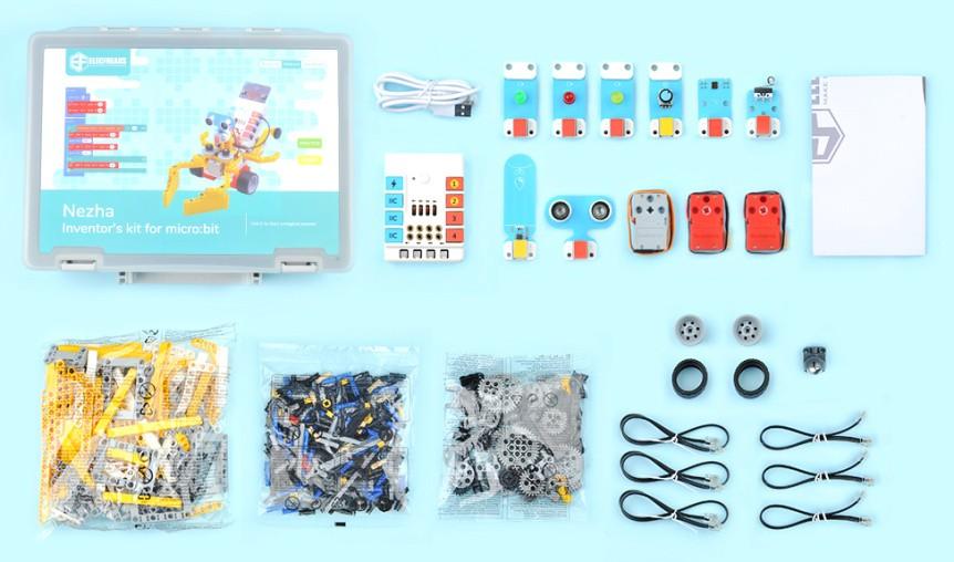NEZHA Inventor's Kit pro mladé vynálezce - součásti